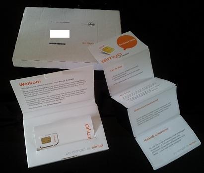 Simyo simkaart pakket