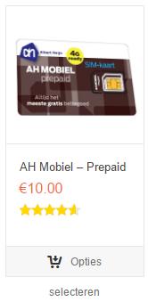 AH mobiel prepaid kopen - webshop