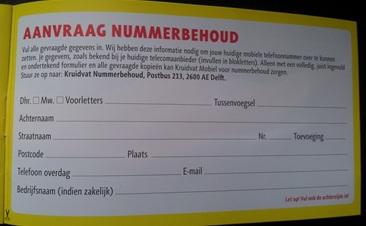 aanvraag nummerbehoud