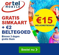 Prepaid aanbieding Ortel Mobile