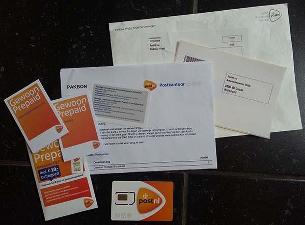 PostNL prepaid pakket