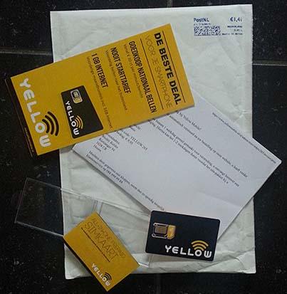 Yellow prepaid pakket
