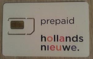 HollandsNieuwe Simkaart