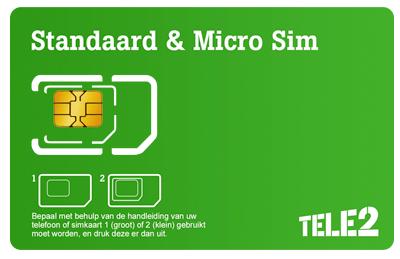 Tele2-simkaart-ontvangst