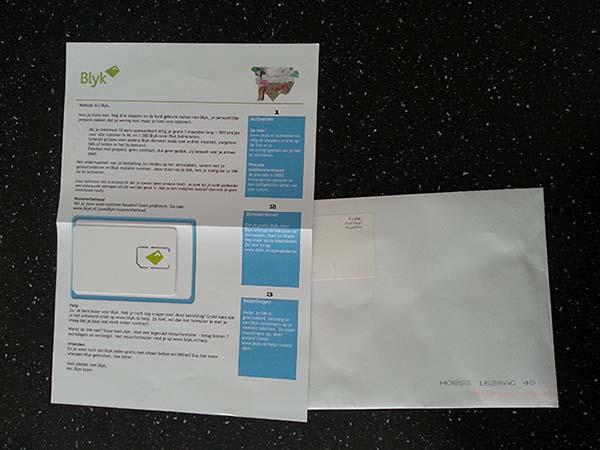 Blyk prepaid simkaart pakket