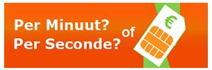 Betalen per minuut of per seconde
