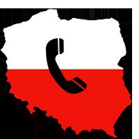 Goedkoop bellen naar Polen logo