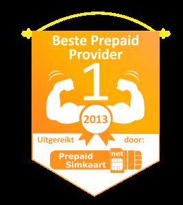 Embleem Beste Prepaid Provider 2013