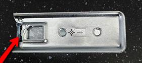 Onderkant van de Simkaart Knipper