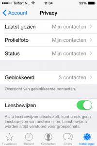 blauwe vinkjes whatsapp uitzetten op iphone