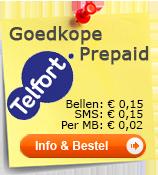 Telfort goedkoopste Prepaid