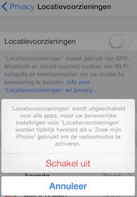 locatievoorzieningen uitschakelen op iPhone