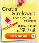 Vodafone gratis simkaart aanvragen!