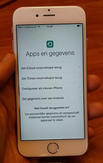 Van Android naar iPhone
