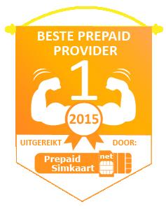 Beste Prepaid Provider 2015 Embleem