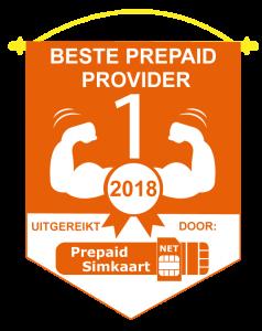 Beste Prepaid Provider 2018 - Embleem