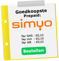Goedkoopste prepaid sim only