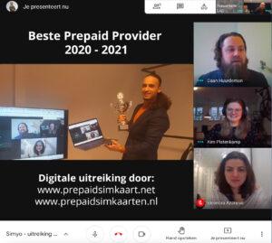 Beste prepaid provider 2020 uitreiking