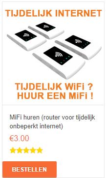 tijdelijk internet mifi huren onbeperkt internet